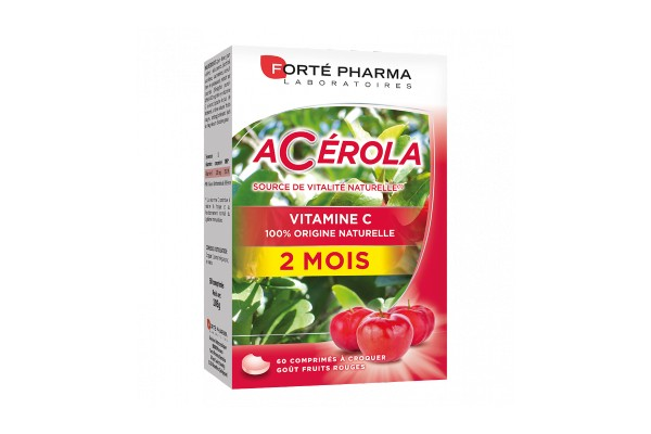 Forté Pharma Acérola Vitamine C 60 Comprimés